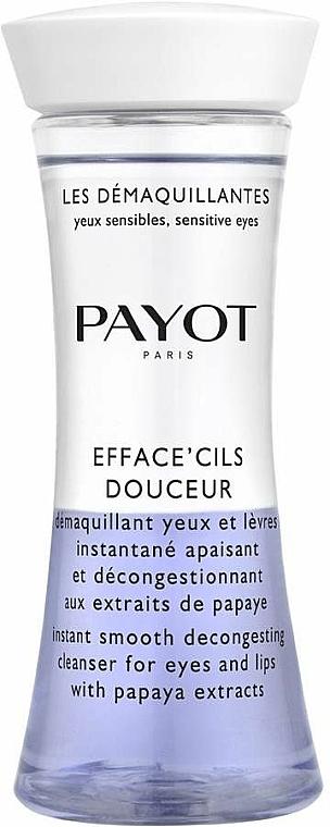 Papaya Eye & Lip Bi-Phase Cleanser - Payot Les Demaquillantes Efface Cils Douceur Instant Smooth Decongesting Cleanser