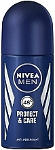 """Fragrances, Perfumes, Cosmetics Roll-On Deodorant """"Protection and Care"""" - Nivea Men Protect and Care Deodorant Roll-On"""