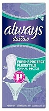 Fragrances, Perfumes, Cosmetics Daily Sanitary Pad, 28 pcs - Always Dailies Fresh & Protect Flexistyle Normal