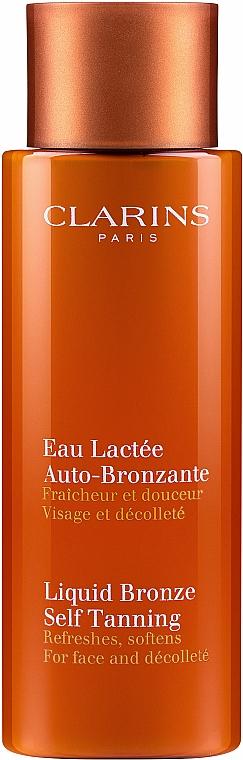 Self-Tanning Face & Decollete Lotion - Clarins Liquid Bronze Self Tanning