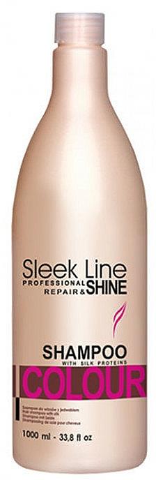 Silk Hair Shampoo - Stapiz Sleek Line Colour Shampoo