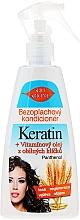 Fragrances, Perfumes, Cosmetics Leave-In Hair Conditioner Spray - Bione Cosmetics Keratin + Grain Sprouts Oil Leave-in Conditioner