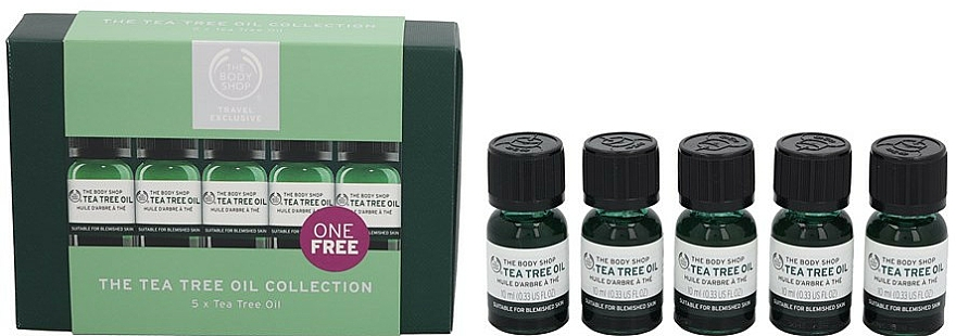 Set - The Body Shop Travel Exclusive Tea Tree Oil Collection (oil/5x10ml) — photo N3