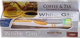 "Fragrances, Perfumes, Cosmetics Set ""Coffee & Tea Drinkers"", yellow brush - White Glo Coffee & Tea Drinkers Formula Whitening Toothpaste (t/paste/100ml + t/brush)"