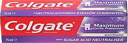 Fragrances, Perfumes, Cosmetics Toothpaste - Colgate Maximum Cavity Protection Whitening Toothpaste