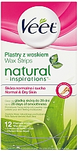 Fragrances, Perfumes, Cosmetics Wax Strips with Aloe Vera - Veet Natural Inspirations Slices Of Wax Normal And Dry Skin