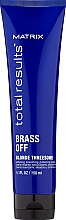 Fragrances, Perfumes, Cosmetics Leave-In Deep Nourishing & Heat Protection for Blonde Hair - Matrix Total Results Brass Off Blonde Threesome