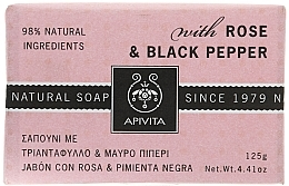 """Fragrances, Perfumes, Cosmetics Soap """"Rose and Black Pepper"""" - Apivita Soap with Rose and Black pepper"""