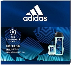 Fragrances, Perfumes, Cosmetics Adidas UEFA Champions League Dare Edition - Set (edt/50ml + sh/gel/250ml)