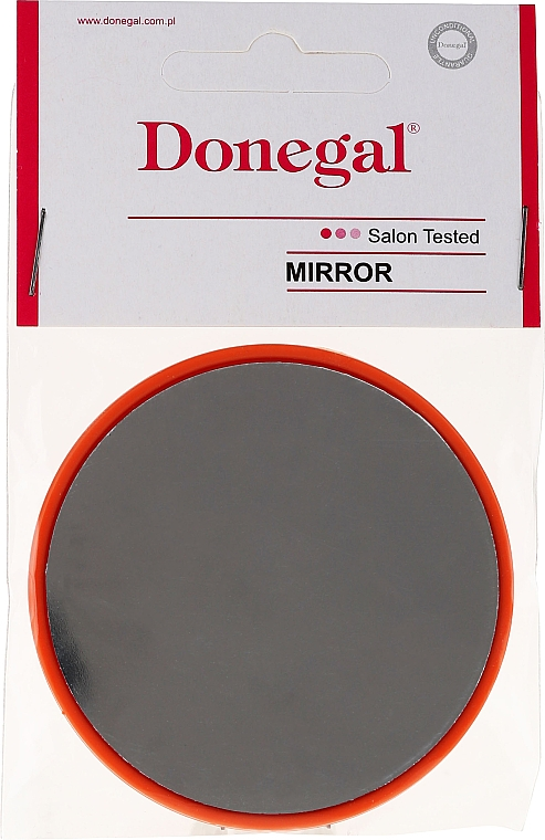 Compact Round Mirror, 9511, 7 cm, orange - Donegal