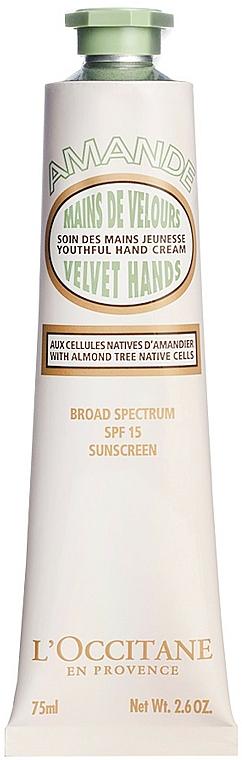 Hand Cream - L'Occitane Almond Velvet Hands SPF15 — photo N1