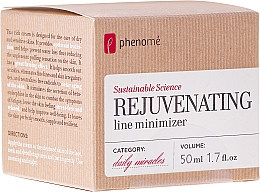 Fragrances, Perfumes, Cosmetics Cream for Dry and Sensitive Skin - Phenome Sustainable Science Rejuvenating Line Minimizer