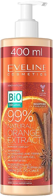Warming Nourishing & Firming Body Cream-Gel with Orange Extract - Eveline Cosmetics Bio Organic 99% Natural Orange Extract