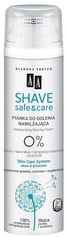 Moisturizing Shaving Foam - AA Shave Safe & Care — photo N1