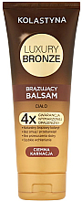 Fragrances, Perfumes, Cosmetics Self Tanning Balm for Dark Skin - Kolastyna Luxury Bronze Tanning Balm
