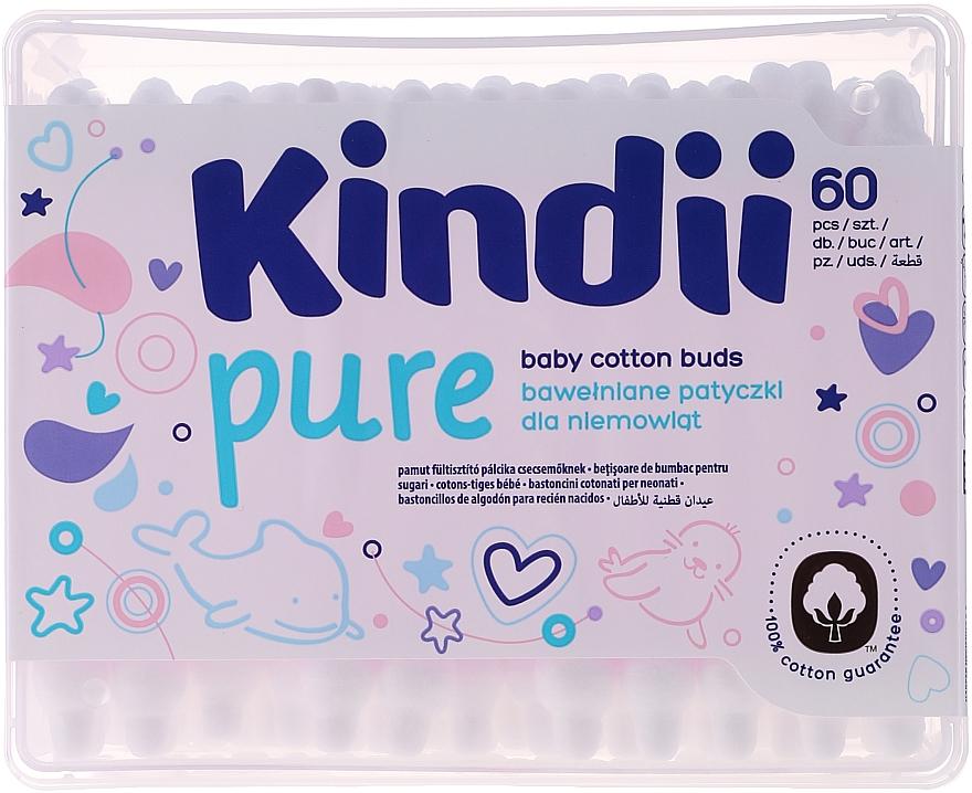 """Kids Cotton Buds """"Kindi"""", 60pcs - Cleanic Kids Care Cotton Buds"""