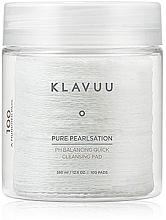 Fragrances, Perfumes, Cosmetics Facial Cleasning Peeling-Pad, 100pcs - Klavuu Pure Pearlsation PH Balancing Quick Cleansing Pad
