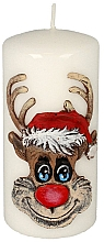 "Fragrances, Perfumes, Cosmetics Decorative Candle ""Rudolf"", white - Artman Christmas Candle Rudolf White"