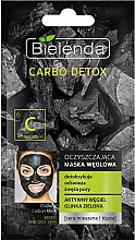 Fragrances, Perfumes, Cosmetics Charcoal Cleansing Mask for Combination Skin - Bielenda Carbo Detox Cleansing Mask Mixed and Oily Skin