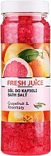 Fragrances, Perfumes, Cosmetics Bath Salt - Fresh Juice Grapefruit and Rosemary