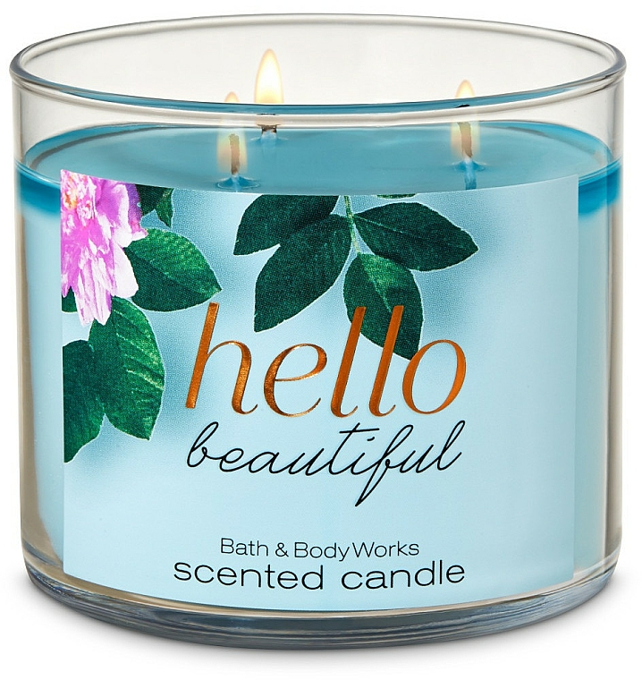 Bath and Body Works Hello Beautiful - Scented Candle — photo N1