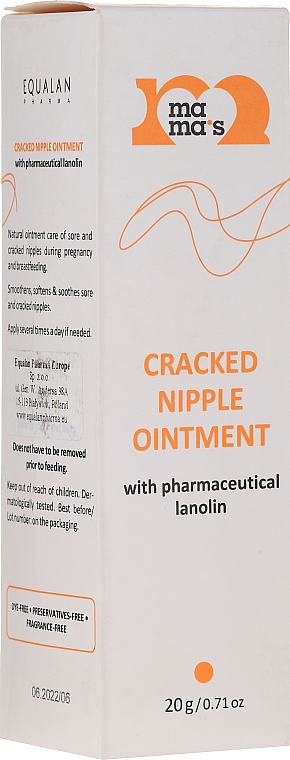 Cracked Nipple Lanolin Ointment - Mama's Cracked Nipple Ointment With Pharmaceutical Grade Lanolin