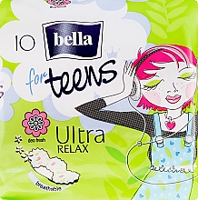 Fragrances, Perfumes, Cosmetics Pantiliners For Teens Ultra Relax, 10 pcs - Bella