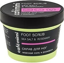 "Fragrances, Perfumes, Cosmetics Foot Scrub ""Sea Salt & Rosemary"" - Cafe Mimi Foot Scrub"