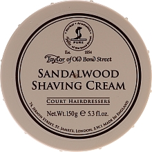 "Fragrances, Perfumes, Cosmetics Shaving Cream ""Sandalwood"" - Taylor of Old Bond Street Sandalwood Shaving Cream Bowl"