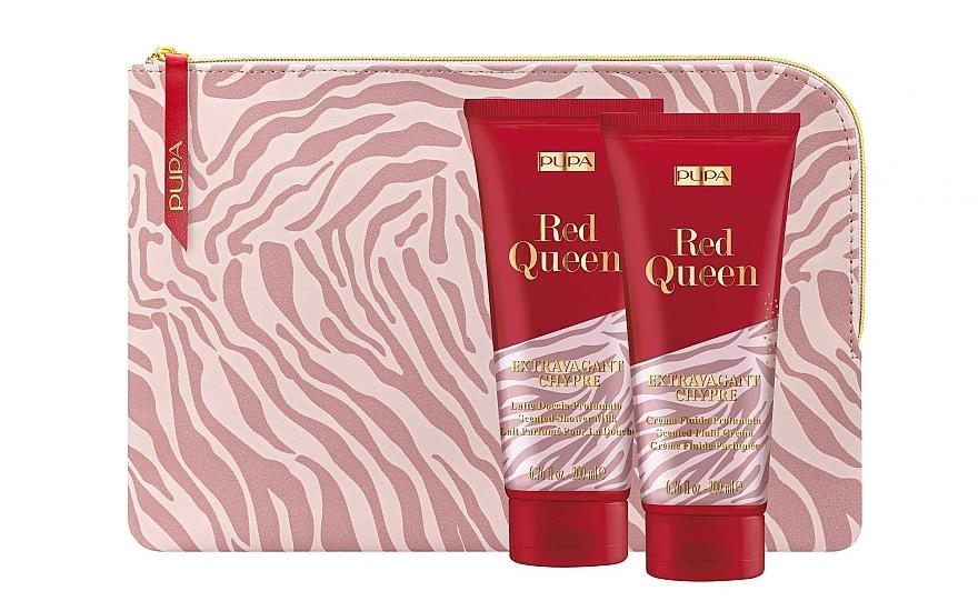 Set - Pupa Red Queen 005 (bag + Milk/200 ml + cream/200ml) — photo N1