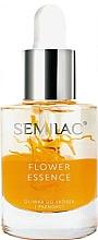 Fragrances, Perfumes, Cosmetics Protective Peach Seed Nail & Cuticle Oil - Semilac Flower Essence Orange Strength