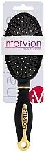 Fragrances, Perfumes, Cosmetics Pneumatic Hair Brush, 499252, Black-Gold - Inter-Vion