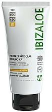 Fragrances, Perfumes, Cosmetics Sunscreen Cream - Ibizaloe Organic Sun Protection SPF 15