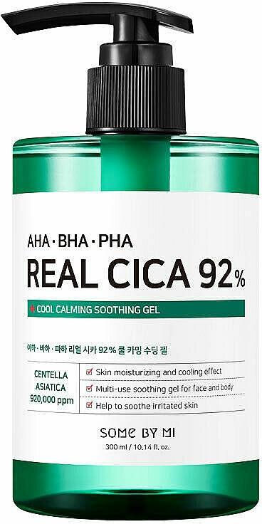 Multifunctional Soothing Acid Gel - Some By Mi AHA BHA PHA Real Cica 92% Cool Calming Soothing Gel — photo N1