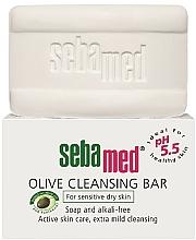 Fragrances, Perfumes, Cosmetics Soap - Sebamed Olive Cleansing Bar