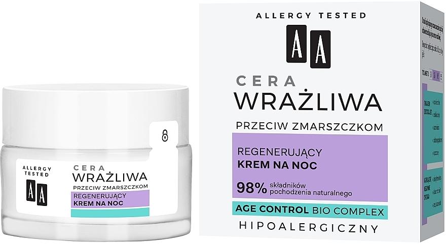 Regenerating Night Cream for Sensitive Skin - AA Regenerating Night Cream