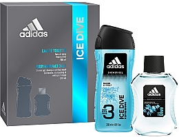 Fragrances, Perfumes, Cosmetics Adidas Ice Dive - Zestaw (edt 100 ml + sh/gel 250 ml)