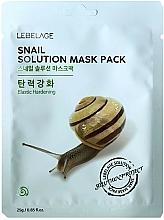 Fragrances, Perfumes, Cosmetics Facial Sheet Mask - Lebelage Snail Solution Mask