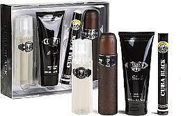 Fragrances, Perfumes, Cosmetics Cuba Black - Set (edt/100 ml + edt/35 ml + sh/gel/200 ml + ash/lot/100 ml)