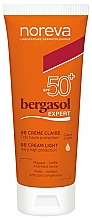 Fragrances, Perfumes, Cosmetics Facial BB Cream SPF50+ - Noreva Laboratoires Bergasol Expert BB Cream Light SPF50+