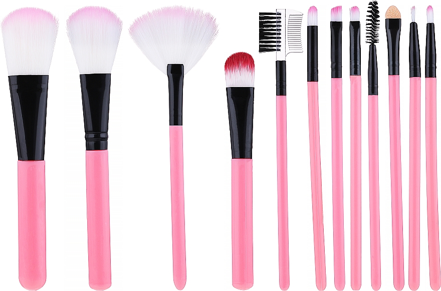 Makeup Brush Set in Tube, pink - Lewer