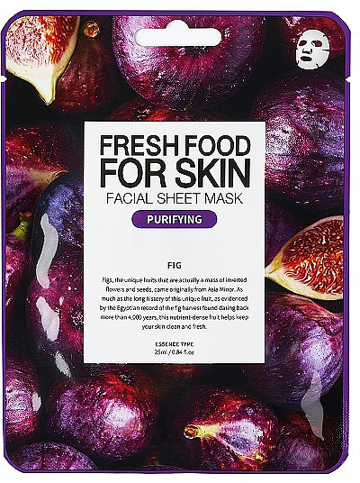 Fig Sheet Mask - Superfood For Skin Facial Sheet Mask Fig Purifying — photo N1