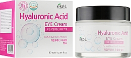Fragrances, Perfumes, Cosmetics Moisturizing Hyaluronic Acid Eye Cream - Ekel Hyaluronic Acid Eye Cream