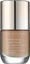 Fragrances, Perfumes, Cosmetics Rejuvenating Long-Lasting Fluid Foundation SPF 15 - Clarins Everlasting Youth Fluid