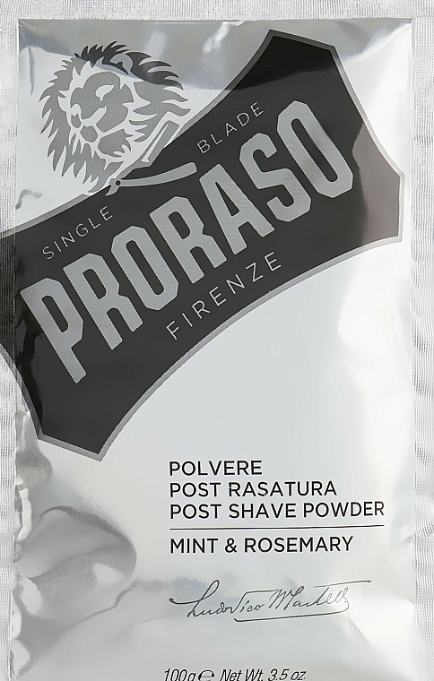 After Shave Powder with Mint and Rosemary - Proraso Mint & Rosemary Post Shave Powder