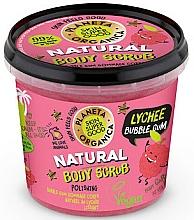 Fragrances, Perfumes, Cosmetics Body Scrub - Planeta Organica Natural Body Scrub Lychee & Bubble Gum