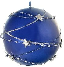 Fragrances, Perfumes, Cosmetics Decorative Candle, ball, blue, 10 cm - Artman Christmas Garland