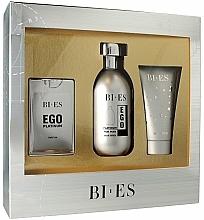 Fragrances, Perfumes, Cosmetics Bi-Es Ego Platinum - Set (edt/100ml + edp/15ml + sh/gel/50ml)