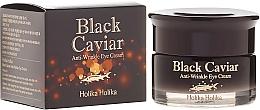 Fragrances, Perfumes, Cosmetics Anti-Aging Eye Cream with Black Caviar Extract - Holika Holika Black Caviar Anti Wrinkle Eye Cream