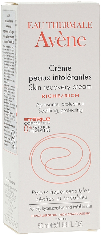 Cream for Extra Sensitive and Dry Skin - Avene Peaux Hyper Sensibles Skin Recovery Rich Cream — photo N1
